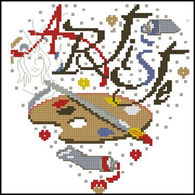 Artiste heart схема вышивки