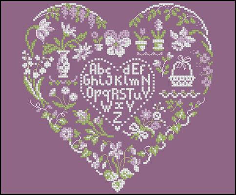 Lavender Mist вышивка крестом схема