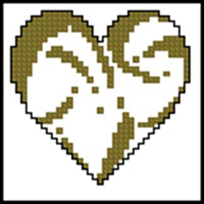 Mini-Herzen - 23 схема вышиви крестом