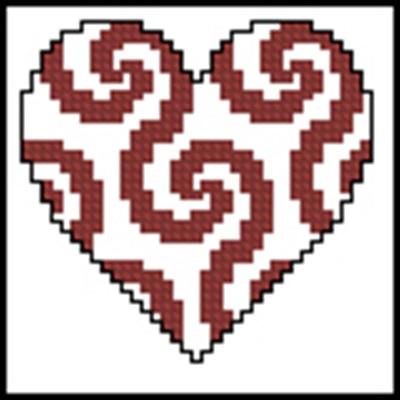 Mini-Herzen - 16 вышивка крестом