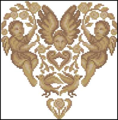 Heart of Angels вышивка крестом