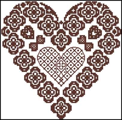 Lace Heart вышивка