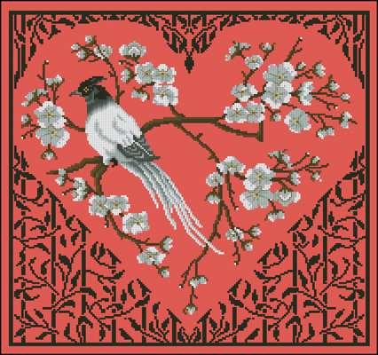 Osaka Heart схема вышивки крестиком