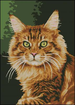 Рыжий кот схема вышивать