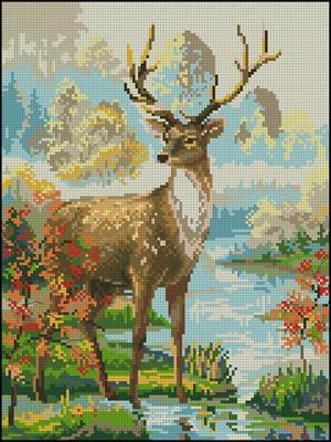 Схемы для вышивки крестиком олени