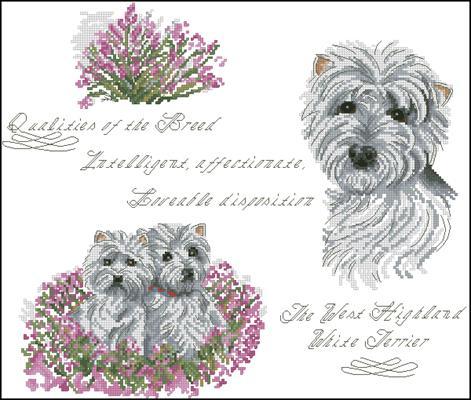 West Highland White Terrier скачать схему вышивки крестиком