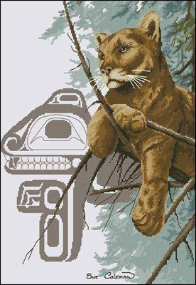 Cougar схема вышивки крестом скачать бесплатно