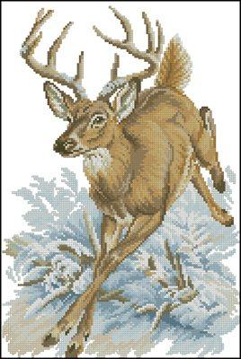 Схема вышивки крестом олени скачать бесплатно