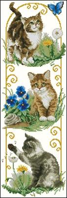 Cats Exploring схема вышивки крестом скачать бесплатно