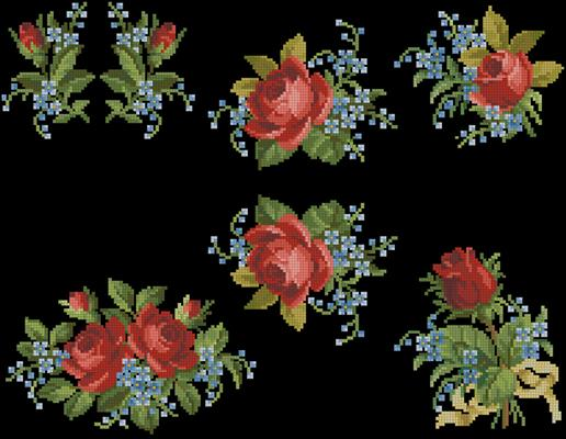 Love is a Rose схема вышиванка