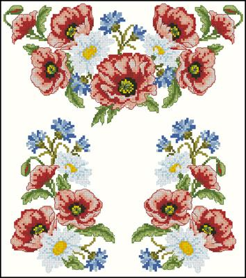 Сорочка 1001 схема вышивки