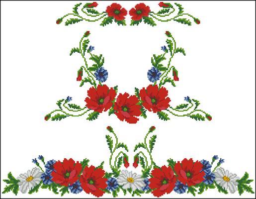 Сарафан схема вышивки крестиком