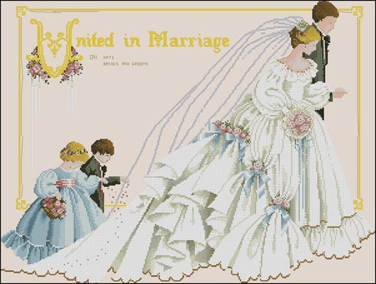 United in Marriage вышивка крестиком схема