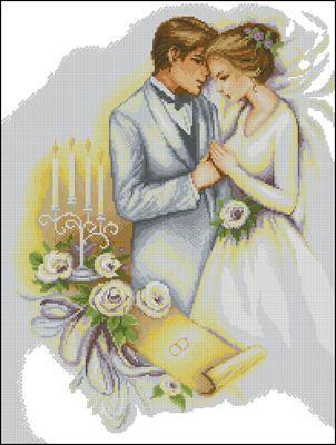 Wedding схема вышивки крестом скачать бесплатно