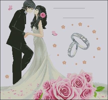 Свадебная метрика – розы и кольца