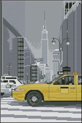 New York Taxi схема вышивки крестом