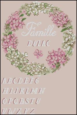 Le cercle familial схема вышивки