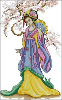 Geisha вышивка крестом схема бесплатно