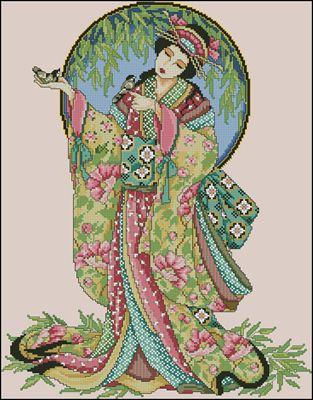 Oriental Grace вышивка крестом схема скачать