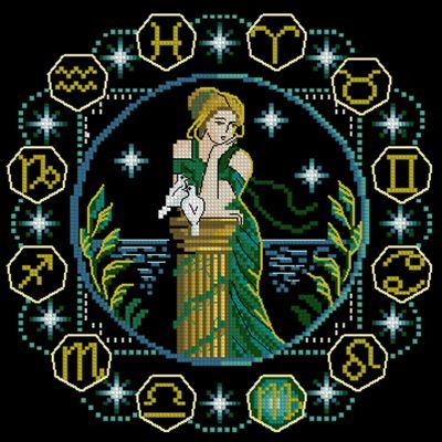 Дева схемавішивки крестом