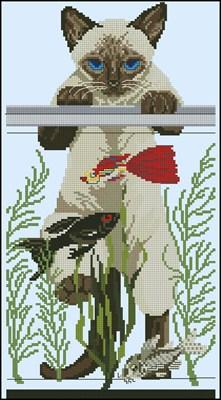 Kot i akvarium схема вышивки крестом скачать бесплано