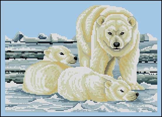 Polar Bears схема вышивки крестиком