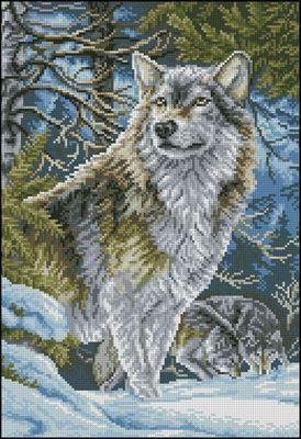 Волки в горах вышивка схема скачать
