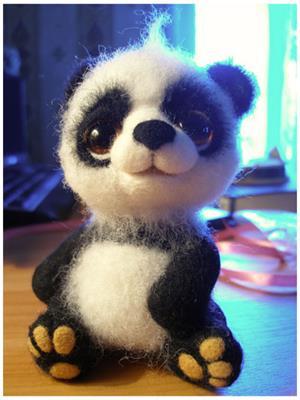 валяние - панда