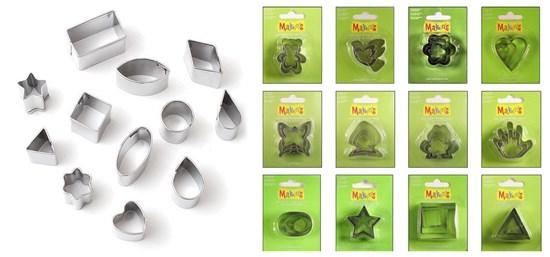 формочки для вырезания пластики
