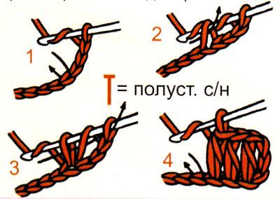 Полустолбик с накидом (полуст. сн)