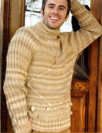 Мужской свитер реглан