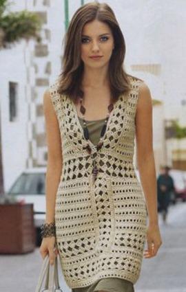 Вязаное ажурное платье для леди фото