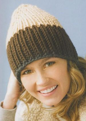 Вязаная женская шапочка «Естественная»