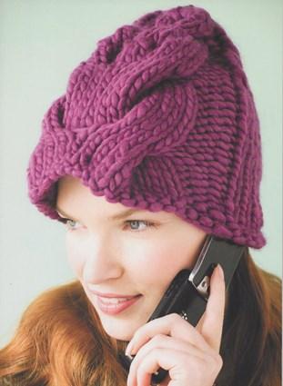 Вязаная женская шапочка «Утепленная»